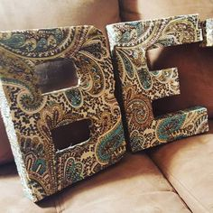 Fabric covered letter Padded Fabric letters Name by DesignsbyDazey