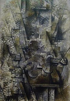 Nature morte au violon. 1911. Georges Braque.