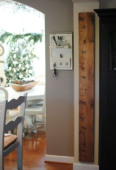 "Oversized Ruler Growth Chart - The pre-attached sawtooth hanger allows for quick and easy display. Wooden Board Dimensions: 1""x8""x6'  $69.95"