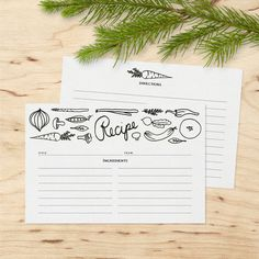 This listing is for a set of 50 recipe cards with a vegetable design hand drawn by me. Double sided design provides enough room for directions.