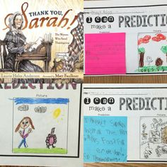 Sticky Note Reading practicing making predictions with Thank You, Sarah.