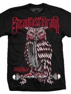 "Men's ""Perched Owl"" Tee by Steadfast Brand (Black)"