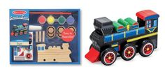 Melissa  Doug DecorateYourOwn Wooden Train Craft Kit ** ON SALE Check it Out Toy Trains For Kids, Kids Toys, New Baby Gifts, Gifts For Kids, Train Crafts, Wooden Train, Crafts For Boys, Melissa & Doug, Preschool Art