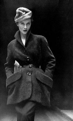 Christian Dior, 1950. My mom used to dress herself in this style, Always,...every day... she was much more elegant than I am now:-)))