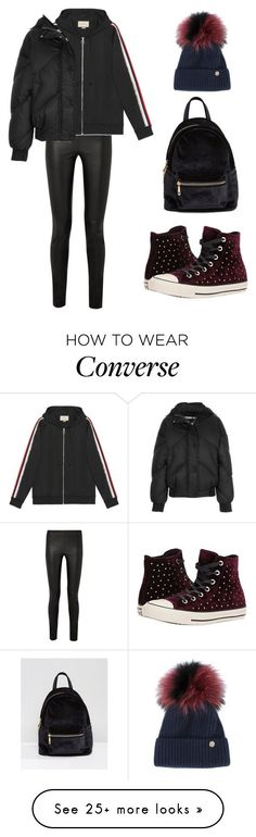 """""""Untitled #1912"""" by needlework on Polyvore featuring The Row, Gucci, Ienki Ienki, Qupid, Converse and Yves Salomon #schooloutfits"""