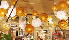 How great would these be for a whimsical ballroom ceiling?