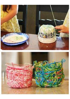 LOMO Outreach craft - String Bowl