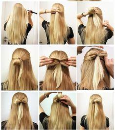 Idée Tendance Coupe & Coiffure Femme 2017/ 2018 : Jolies idées de coiffures rapides pour les filles aux cheveux longs