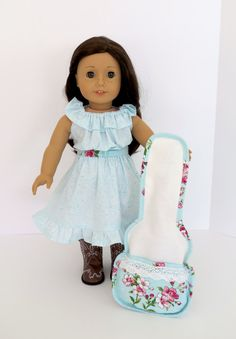 Gig Bag GUITAR CASE Handcrafted for 18-inch dolls such as American Girl®  Inspired by and designed to fit Tenney Grant's® guitar by LemonBayDollCo on Etsy