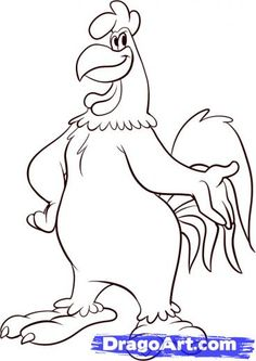 picture of 'foghorn leghorn/' cartoon rooster | foghorn leghorn colouring pages