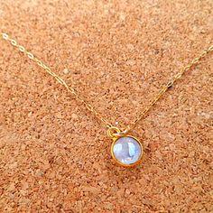 Rainbow moonstone 14k gold necklace by LeFrenchChic on Etsy, $26.00
