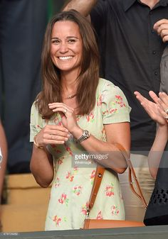Pippa Middleton attends day seven of the Wimbledon Tennis Championships at Wimbledon on July 6, 2015 in London, England.
