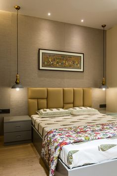 Simple Bedroom Interior Design New Simple yet Profound A Home In the Heart Of Mumbai Bed Headboard Design, Bedroom Furniture Design, Master Bedroom Design, Headboards For Beds, Bed Furniture, Modern Headboard, Bedroom Decor, Simple Furniture, Furniture Removal