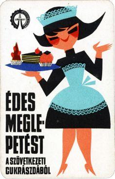 Hungarian card calendar, 1967.