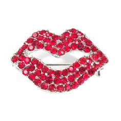 Ruby Lips Brooch now featured on Fab. @Maria Mitsaelides - made me think of Andrea!