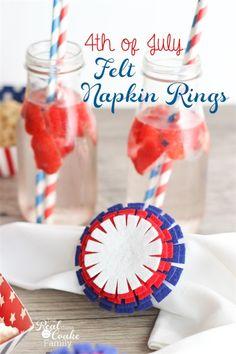 Easy to Make 4th of July Felt Napkin Rings - Inspiration DIY