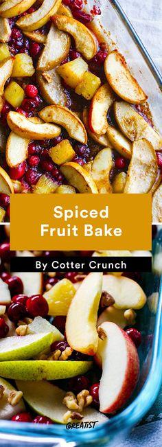 6. Spiced Fruit Bake #healthy #fall #brunch #recipes http://greatist.com/eat/brunch-recipes-for-fall