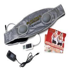 Vibration Velform Fat Burner Sauna Massage Professional Slimming Belt Body Massager As Seen On TV(Silver)