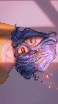 Girly Drawings, Cool Art Drawings, Aesthetic Art, Aesthetic Anime, Arte Obscura, Anime Scenery Wallpaper, Digital Art Girl, Cartoon Art Styles, Pics Art