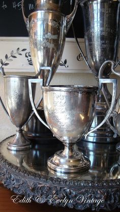 Antique 1913 Trophy Cup Silver Plate Loving Cup by edithandevelyn on Etsy
