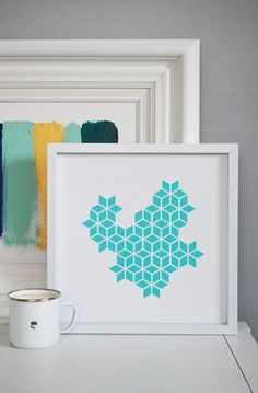 12 x 12 géométriques découpe imprimé modèle de par whitenest