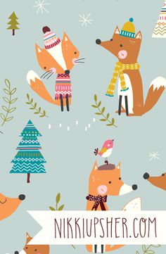 Nikki Upsher is a freelance surface pattern designer and illustrator based in Bath, UK. She has over twenty years experience in the business where she successfully designed textiles, fashion, stationery and giftprint & pattern