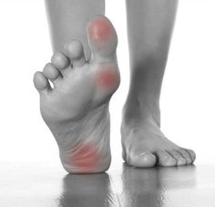 The burning pain that many fibro folks complain about is often due to the fibro trigger point (myofas cial tightening) on the bottoms of the feet when awakening in the morning.