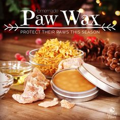Mix four simple ingredients together to create an all natural, protective barrier for your dog's paws this winter! (Also Calendula giveaway at the end!)