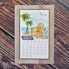 2021 Desktop Calendars - July & August | Swimming In Stamps Print Calendar, Calendar Pages, Desktop Calendars, Calendar Ideas, August Calendar, 2021 Calendar, Small Alphabets, Alphabet Stamps, Chalk Markers
