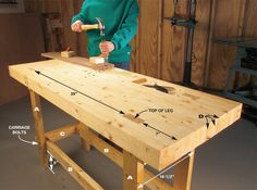 Work Bench entirely from 2x4s