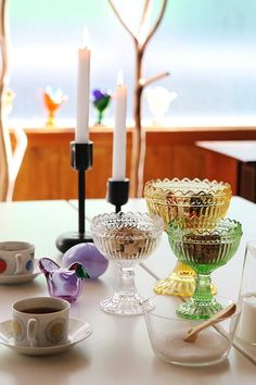 iittala Maribowl Candle Holders, Tableware, Nordic Design, Glassware, Candles, Taper Candle, Marimekko, Bowl Designs, Bowl