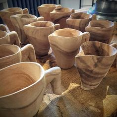 We've been whittlin'. Wood is the new porcelain. #traditional #modern #handmade…