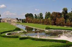 Vue sur les jardins, villa Pisani, XVIIIe siècle, Stra, Ville métropolitaine de Venise, Vénétie, Italie.   da byb64