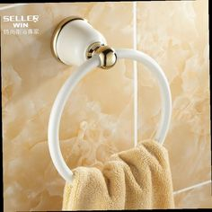 43.61$  Buy here - http://alidke.worldwells.pw/go.php?t=1658030666 - 2014 Army Sky Zinc-alloy New Promotion Saboneteira Bathroom Antique Towel Hook Gold Ring Hanging