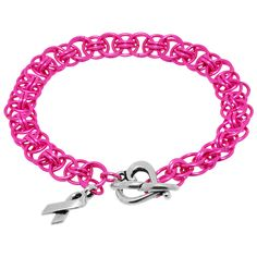 Pink Happy Thoughts bracelet on Fusion Beads