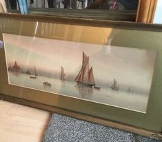 GARMAN MORRIS Dawn 1900-1930 Original Watercolour Seascape Signed Art Coastal  | eBay