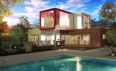 Plan de maison moderne avec étage - Archionline