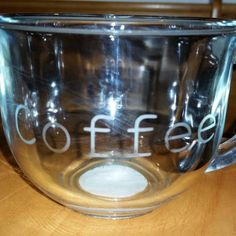 Check out this item in my Etsy shop https://www.etsy.com/listing/211331956/etched-glass-coffee-breakfast-cup