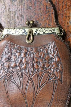 stunning Antique art nouveau purse clutch  turn by buttongallery, $145.00