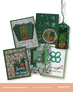 A Lucky Charm of Cards! | #luckytobethoughtful | Jenni's 4th Project — thoughtfulstudio