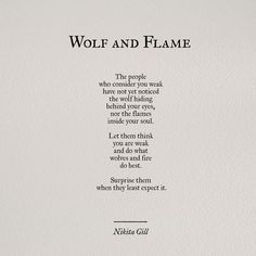 Wolf and flame.