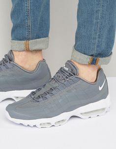 official photos f354a 14654 Nike Air Max 95 Ultra Trainers In Grey 857910-007