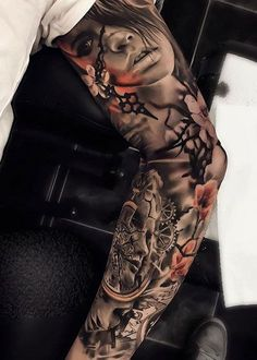 Sleeve Tattoos for Women Ideas and Designs for Girls, 100 Awesome Examples Of Full Sleeve Tattoo Ideas Art And. Sleeve Tattoos For Women Ideas And Designs For Girls. Full Sleeve Tattoo Design, Arm Sleeve Tattoos, 3d Tattoos, Sleeve Tattoos For Women, Sexy Tattoos, Black Tattoos, Body Art Tattoos, Tattoos For Guys, Full Tattoo