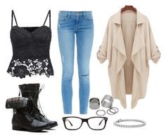 """""""Cassidy Runaway"""" by marsophie ❤ liked on Polyvore featuring Frame Denim, Ray-Ban, Pieces and Blue Nile"""
