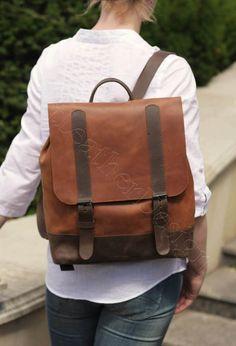 De cuero mochila mujer mochila de cuero bolso hecho a mano Mochilas De  Cuero 62aca15e8fd