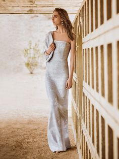 Sequined Ziani Knit Gown