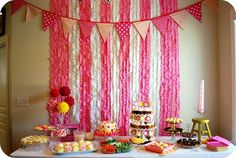 izzie's polka dot party I LOVE the backdrop!