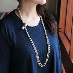VINTAGE PEARL & CHAIN NECKLACE/ヴィンテージ・パールネックレス