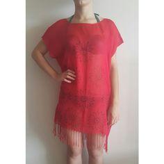 Tokat Baskılı Pamuklu Kırmızı Plaj Elbisesi Diy, Dresses, Fashion, Vestidos, Moda, Bricolage, Fashion Styles, Diys, The Dress