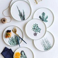 Botanical Dinner Plate from Apollo Box prod.- Botanical Dinner Plate from Apollo Box product image for Botanical Dinner Plate Ceramic Plates, Ceramic Pottery, Pottery Plates, Clay Plates, Decorative Plates, Painted Plates, Hand Painted Ceramics, Diy Tableware, Keramik Design